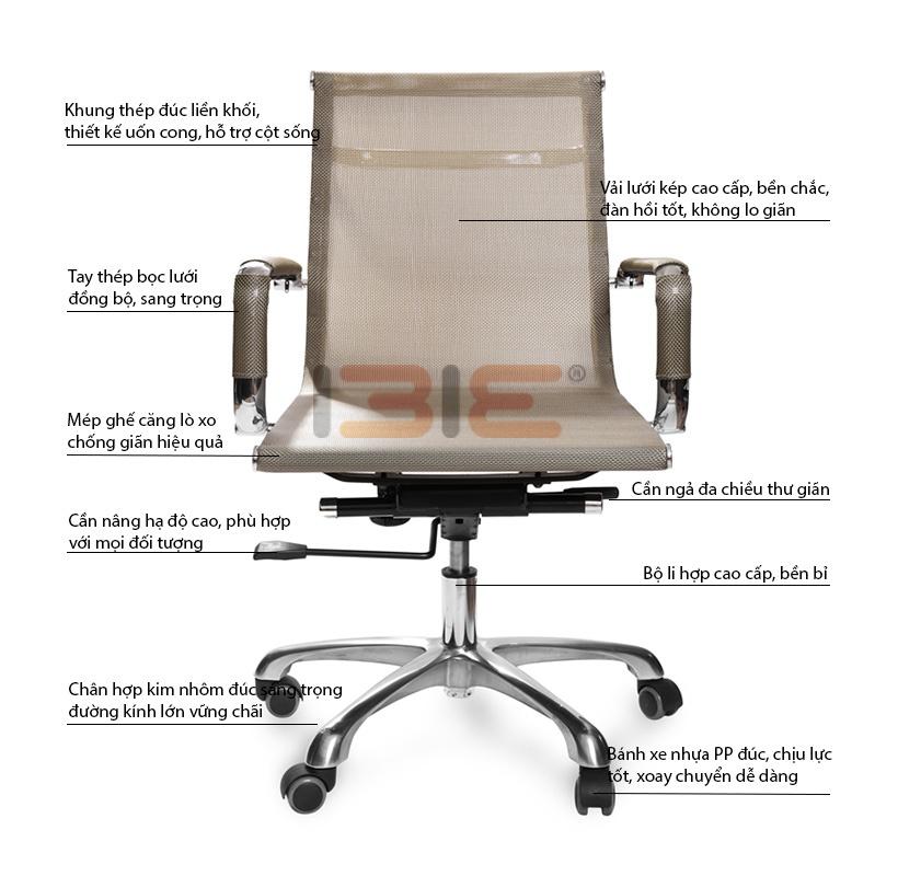 Mô tả ghế IB802