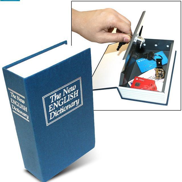 Két sắt từ điển, quyển sách khóa bằng chìa loại lớn 18*12*5 cm
