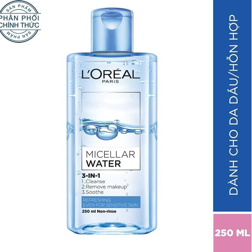 Chiết Khấu Sản Phẩm Nước Tẩy Trang Tươi Mat L Oreal Paris 3 In 1 Micellar Water 250Ml