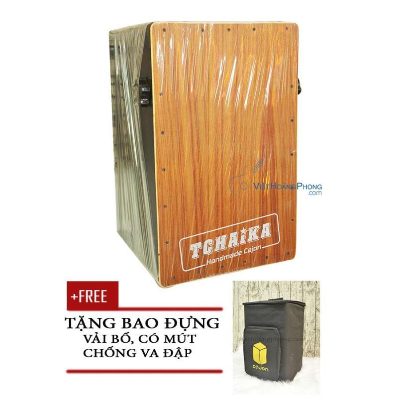 Trống Cajon Handmade Thái Lan TCHAIKA giá rẻ có Snare + Bao đựng trống - Việt Hoàng Phong