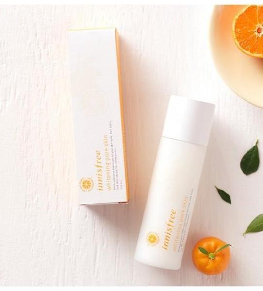 Nước hoa hồng dưỡng trắng da từ quýt tươi Jeju Innisfree Whitening Pore Skin 150ml tốt nhất