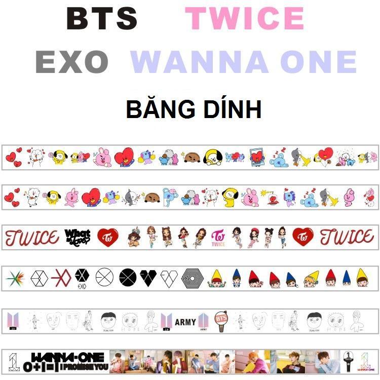 Mua Băng dính BTS, EXO, WANNA ONE, TWICE, BT21