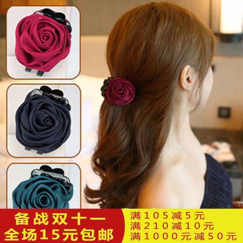 Siêu giá mùa hè Kẹp tóc hoa hồng mẫu Hàn Quốc tốt nhập khẩu