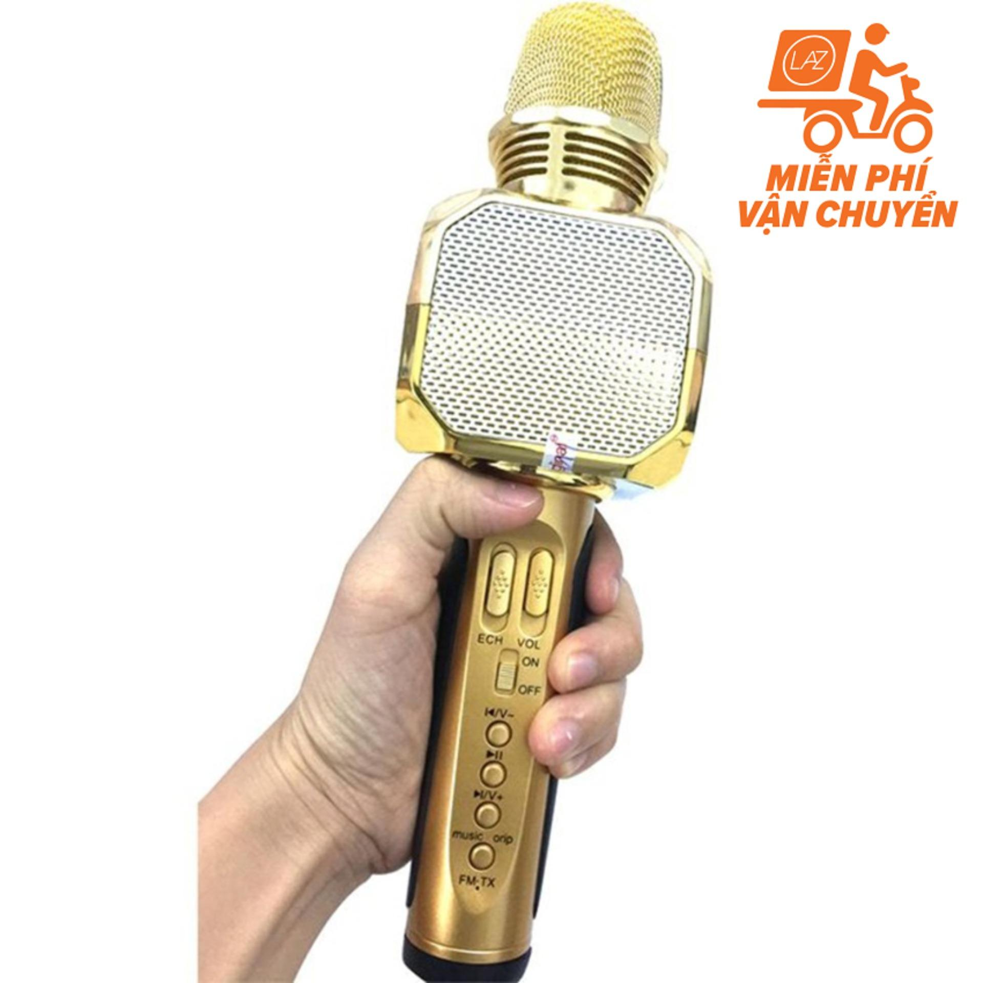 Micro kèm loa Bluetooth Karaoke SD-10 (Model 2018 cực hay)