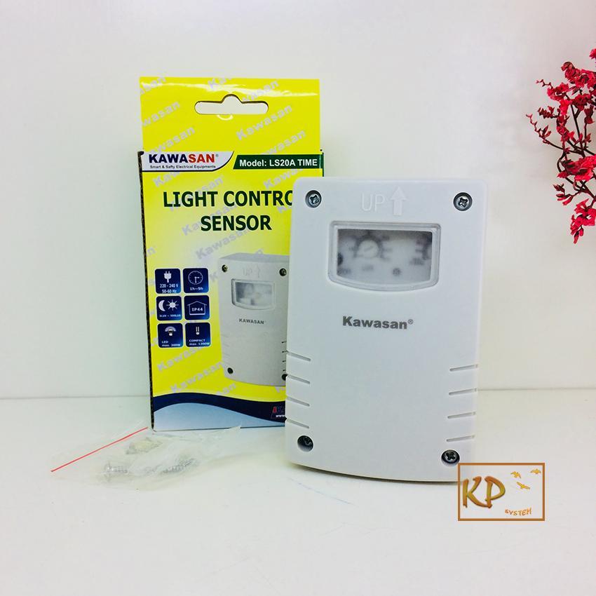 Công tắc cảm ứng ánh sáng kín nước lắp ngoài trời sân vườn đèn tự bật khi trời tối (có hẹn thời gian tắt đèn) Kawasan LS20A Time