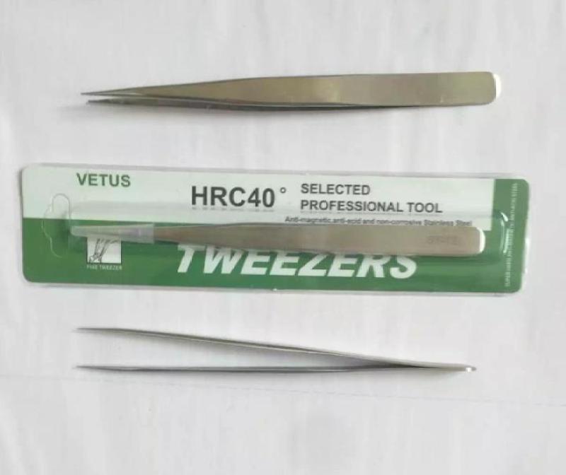 Nhíp gắp linh kiện,gắp thẳng MARKET VIETNAM chống tĩnh điện HRC40 VFTUS ST-12