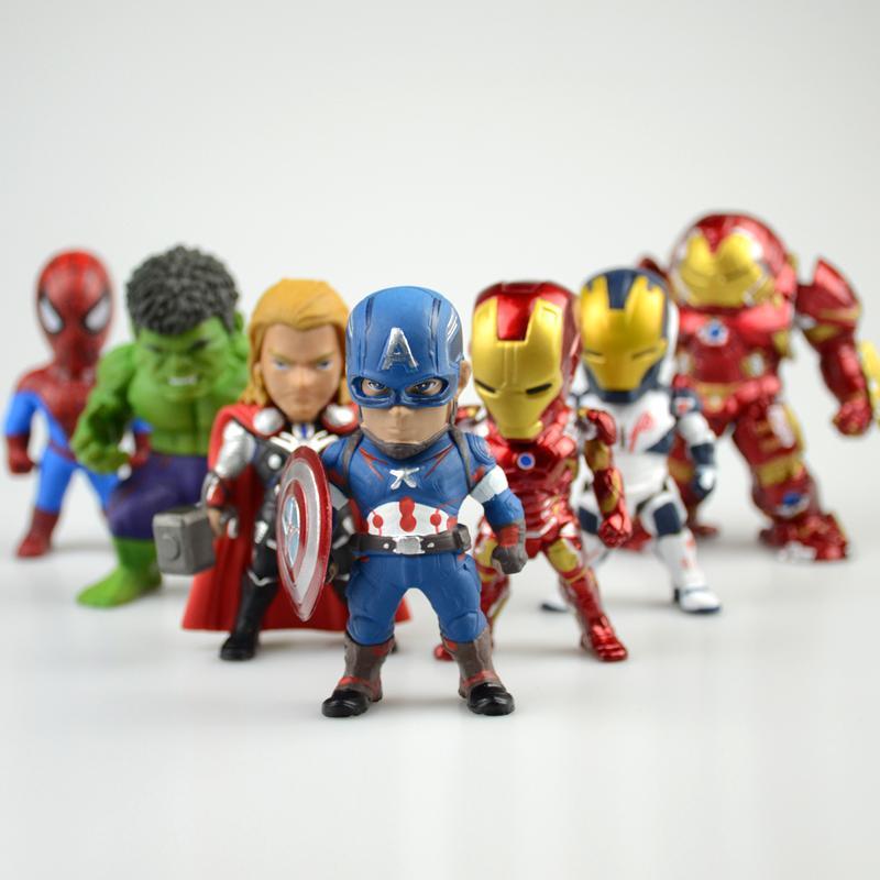Mô Hình Nhân Vật Avenger Siêu Anh Hùng ( Cả 6 Em )