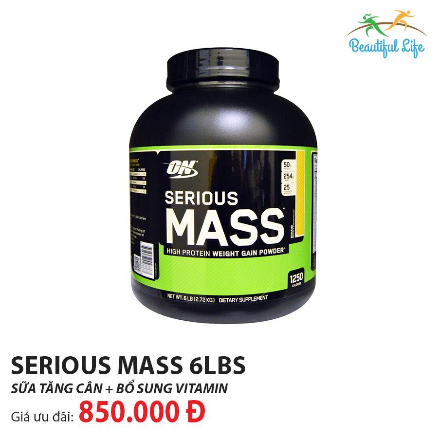 Giá Cực Tốt Để Sắm Sữa Tăng Cân Optimum Nutrition Serious Mass 6LBS