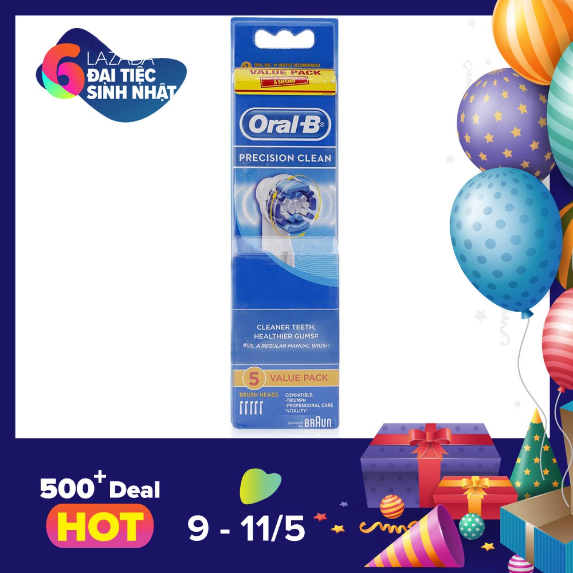 Bộ 5 Đầu Ban Chải Điện Oral B Precision Clean Trong Hồ Chí Minh
