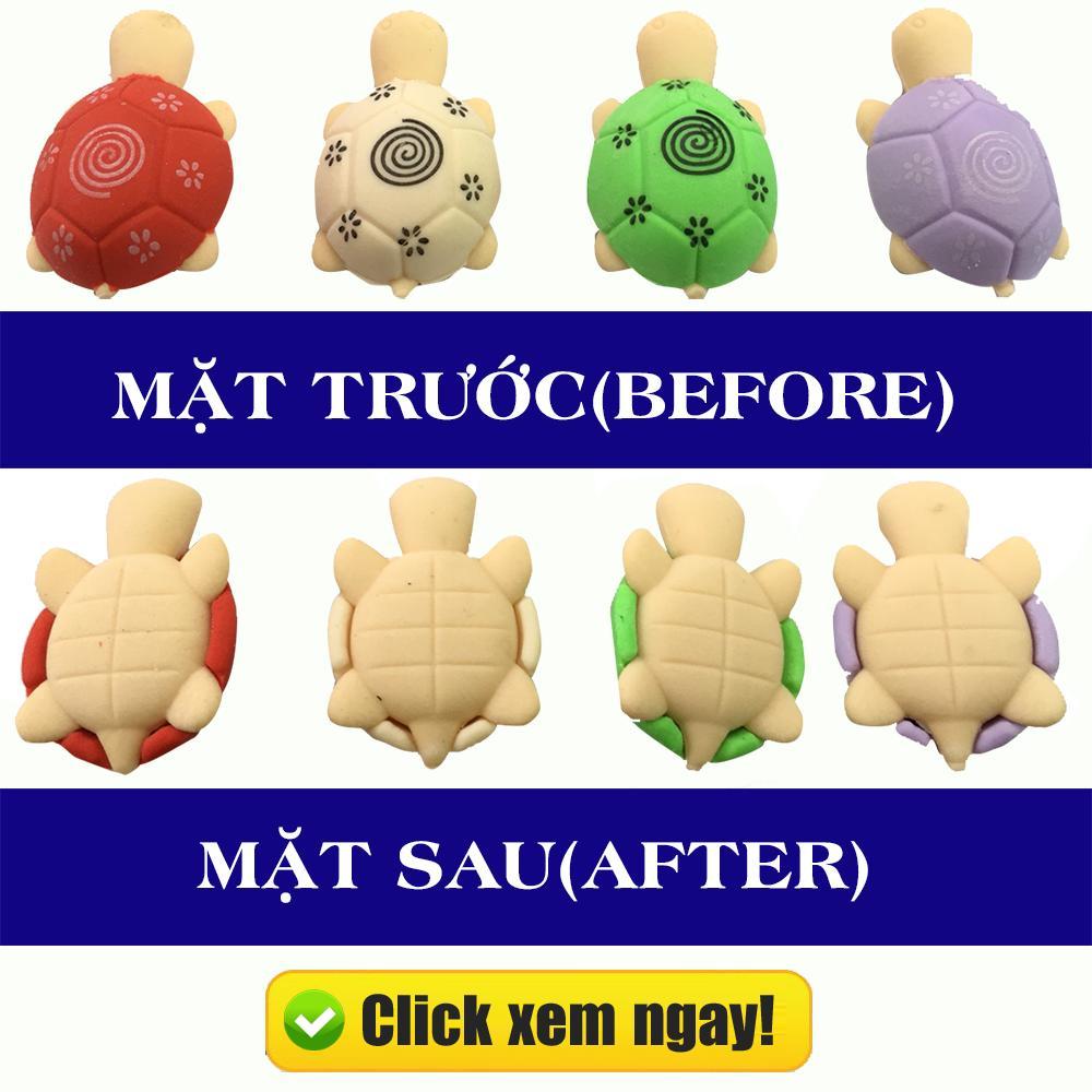 Mua (Xem Clip)Combo 4 Cục gôm(tẩy) hình con rùa cho bé học tập siêu dễ thương(nhiều màu-ngẫu nhiên)