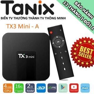 TV BOX TX3 MINI, RAM 2GB, AMLOGIC S905W, ANDROID 7.1.2 Android TV thumbnail