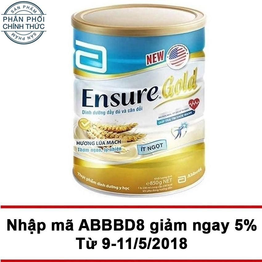 Giá Bán Lon Sữa Bột Ensure Gold Hương Lua Mạch It Ngọt 850G