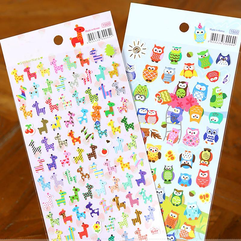 Mua 2sheets Owl Giraffe Print Memo Sticker Cute Drawing Market Diary Transparent Scrapbooking Calendar Album Deco Sticker - intl