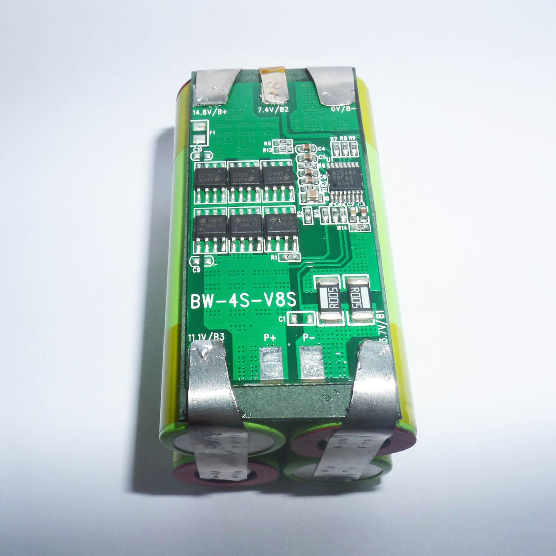 Pin 4S 14.4V-15A -  Dung lượng 2000mAh - Chuyên dùng cho thiết bị điện tử, Robot, Máy hút bụi...
