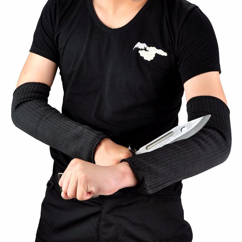 Ống tay bảo vệ chống cắt đứt bằng sợi thép chống gỉ màu đen