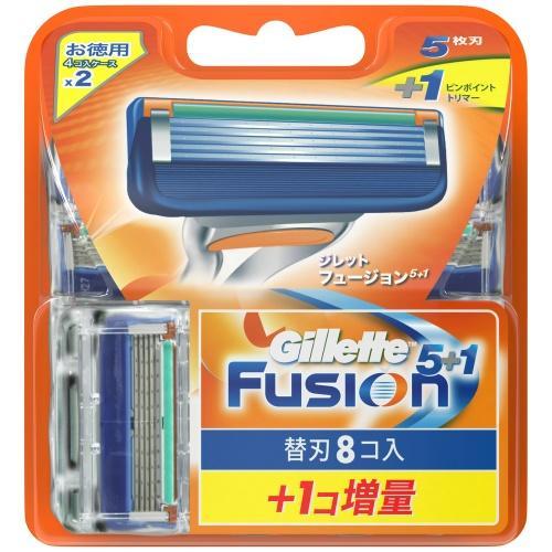 Vỉ 9 lưỡi dao cạo râu Gillette Fusion 5 + 1