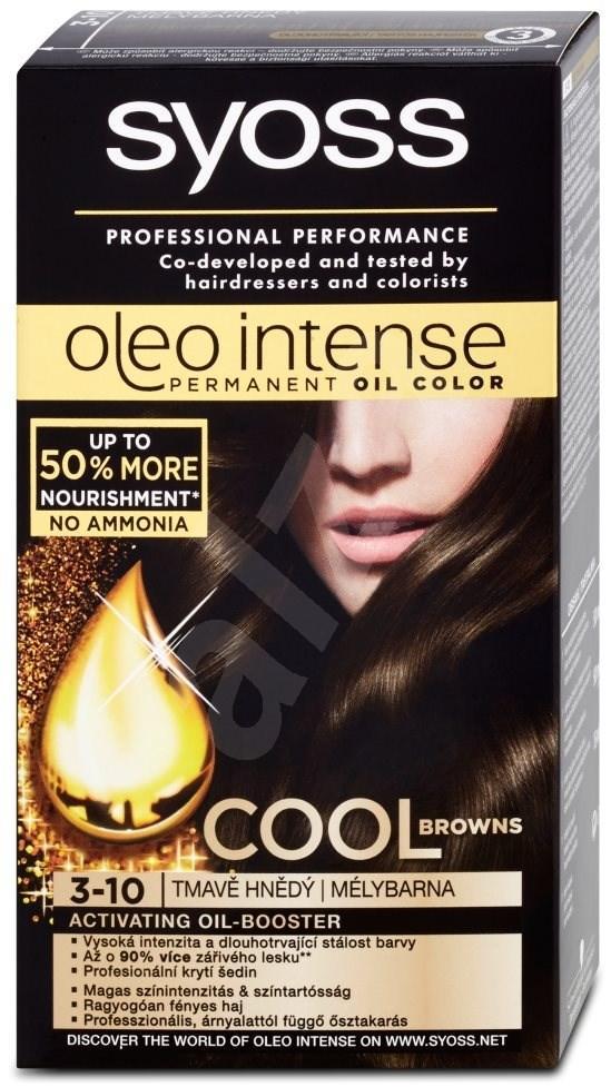 Thuốc nhuộm tóc ( nâu tối ) nhập khẩu SYOSS Oleo Intense 3-10 Dark Brown 50 ml tốt nhất
