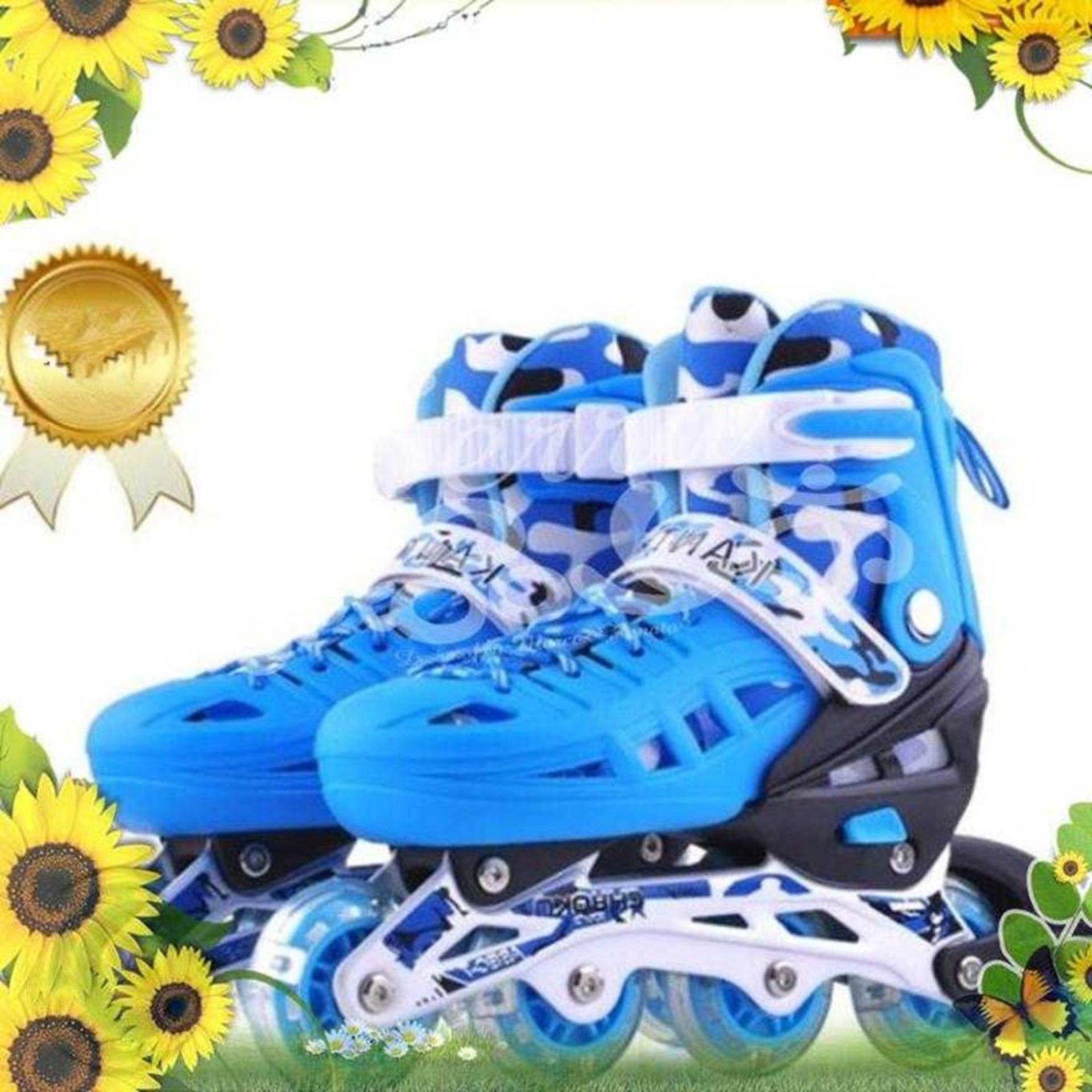 Trượt Patin,Giày Patin Trẻ Em,Giày Patin Trẻ Em Tặng Mũ Và Đồ Bảo Hộ,Thiết Kế Ôm Chân, Chắc Chắn, Kiểu Dáng Trẻ Trung Giúp Cho Người Chơi Cảm Giác Đôi Chân Thoải Mái Khi Trượt