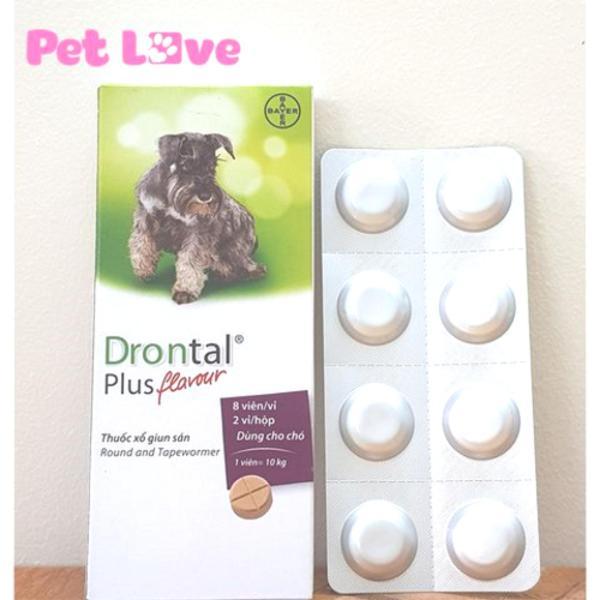1 hộp Drontal Plus Flavour (16 viên) xổ giun sán trên chó