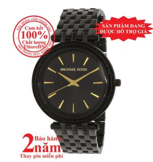 Đồng hồ nữ Michael Kors Darci MK3337, Vỏ, mặt và dây màu Đen (Black), viền đá pha lê Swarovski, size 39mm- MK3337 thumbnail