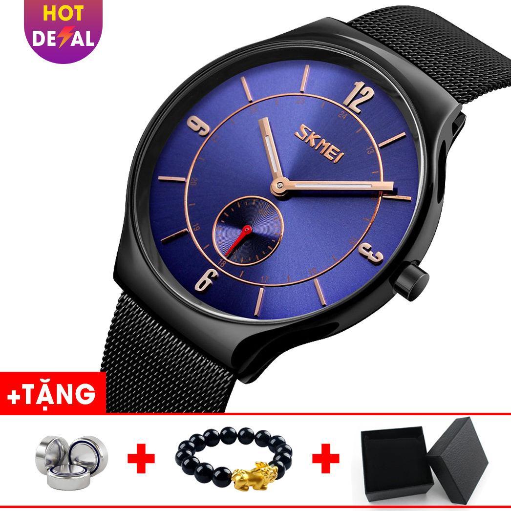 Đồng hồ nam dây thép lụa sang trọng cao cấp SKMEI SK047 - Boss Watches bán chạy