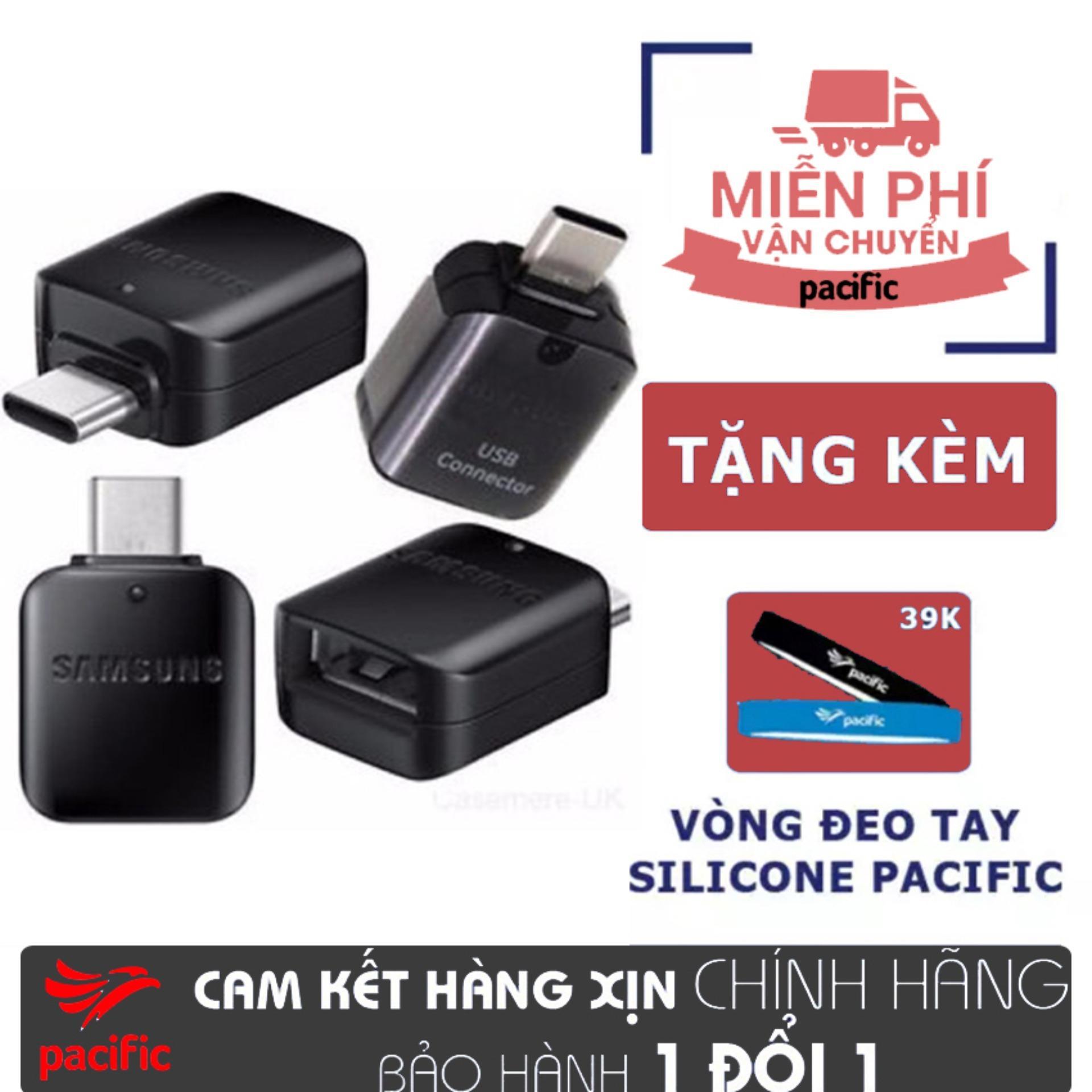 OTG Samsung chuyển đổi cổng USB Type-C chuẩn 3.0 - Tặng Vòng đeo tay Silicone Pacific