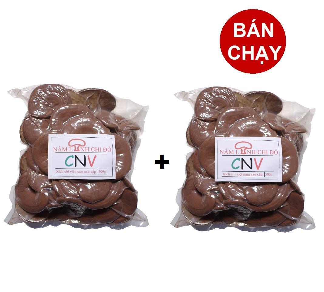 Nấm linh chi đỏ cao cấp CNV 500g x 2 Gói (Xích chi Việt Nam tự trồng) nhập khẩu