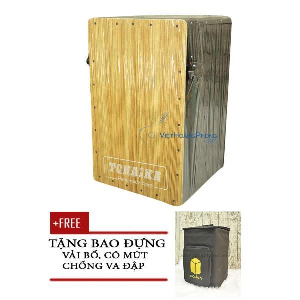 Trống Cajon Handmade Thái Lan TCHAIKA giá rẻ có Snare + Bao đựng trống - HappyLive Shop