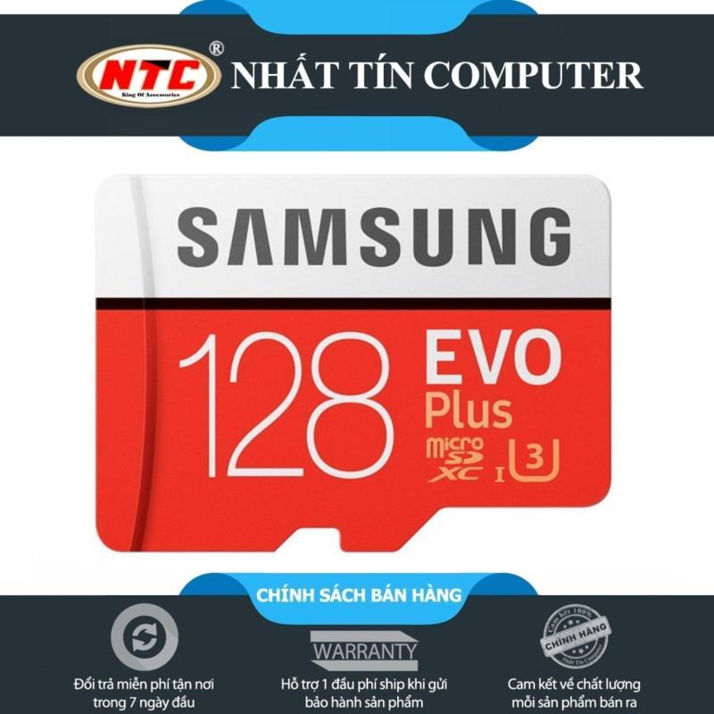 Thẻ nhớ MicroSDXC Samsung EVO Plus 128GB nâng cấp lên 100MB/s - Chuẩn U3 hỗ trợ 4K (Đỏ)