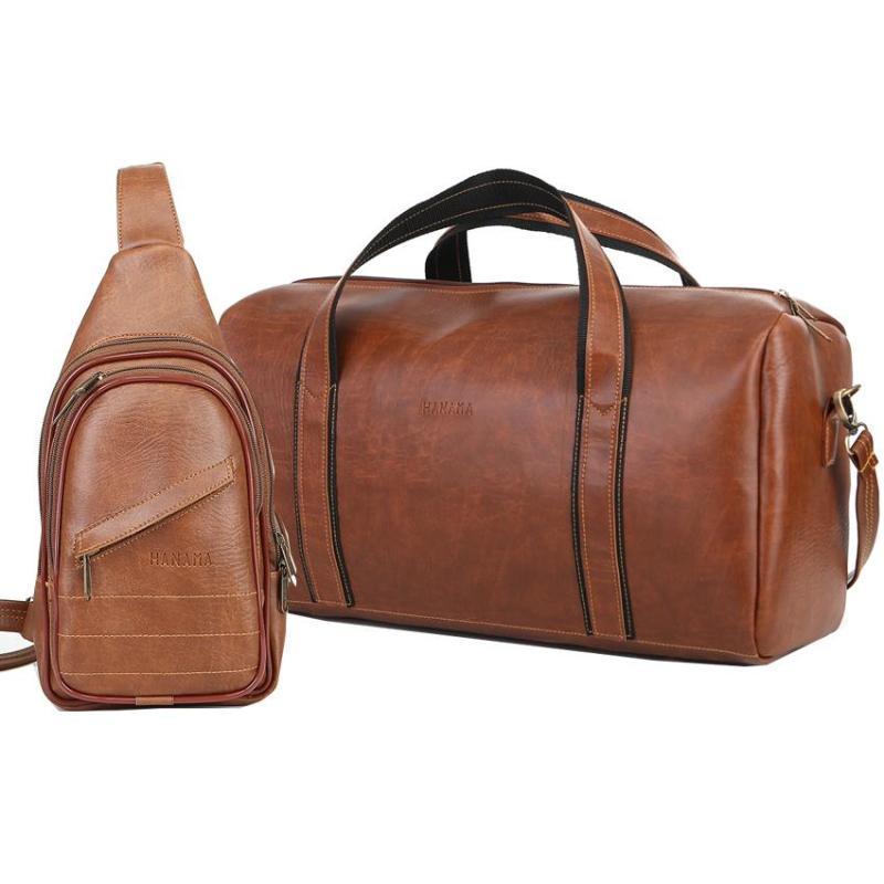 Bộ đôi túi du lịch cao cấp HANAMA TẶNG kèm túi đeo chéo N6 S16