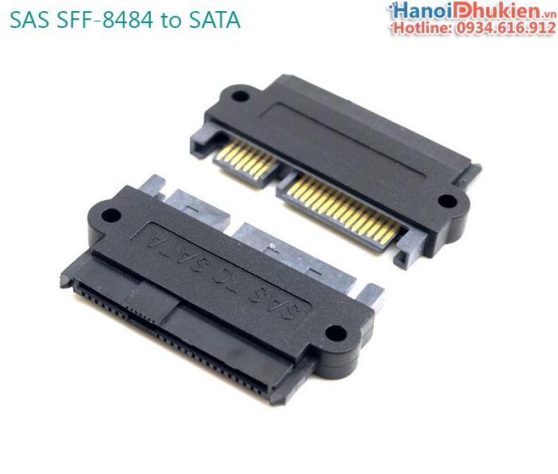 Bảng giá Giắc chuyển SAS sang SATA (SFF-8484 to SATA) cho server, workstation Phong Vũ