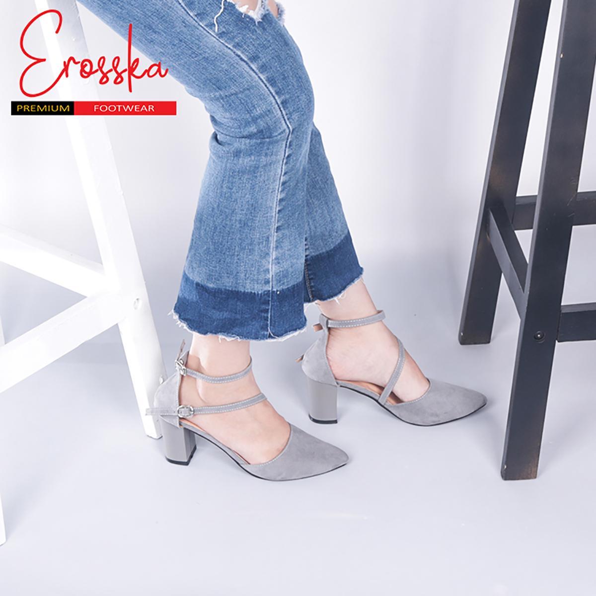 Giày Cao Gót Đế Vuông Erosska - ER002 .02