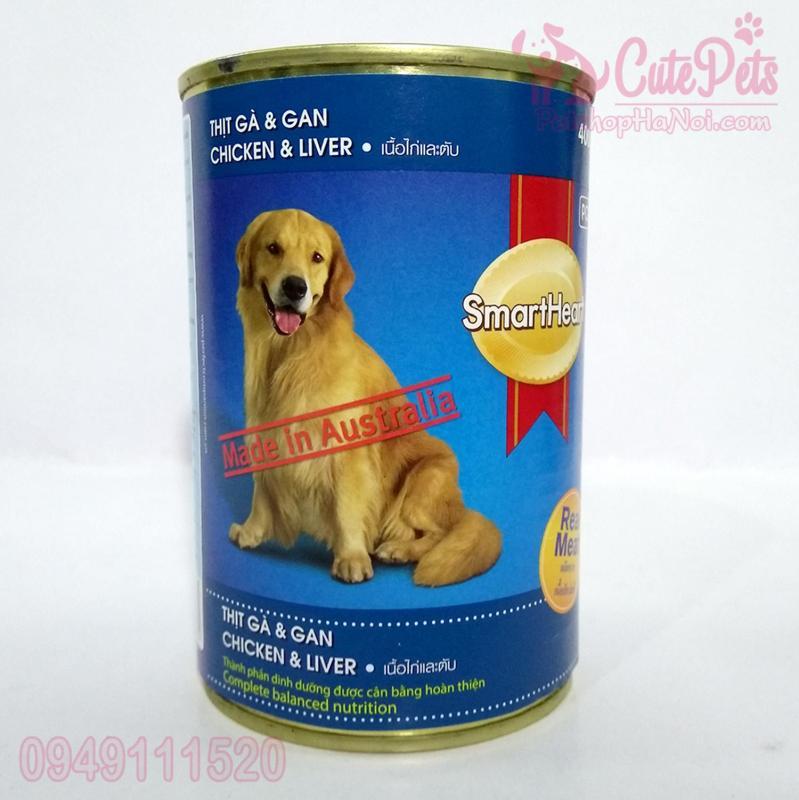 Pate Lon Smart Heart 400g Dành cho chó lớn Vị gà và gan