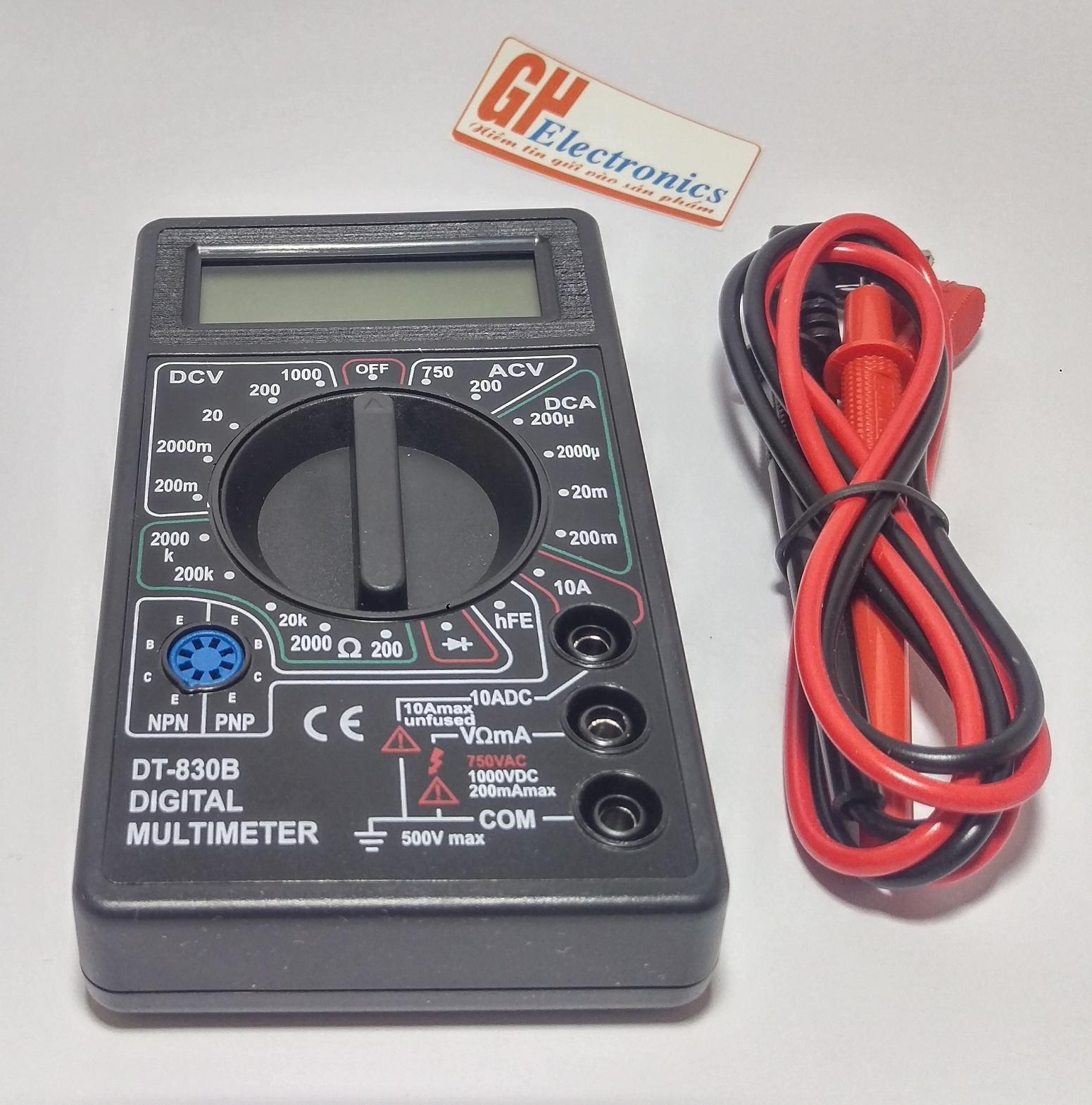 Đồng hồ vạn năng DT830B Kèm Pin
