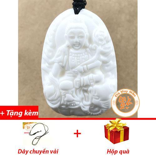 Mặt Dây Chuyền Phật Bản Mệnh Phổ Hiền Bồ Tát Vỏ Sò Hóa Thạch