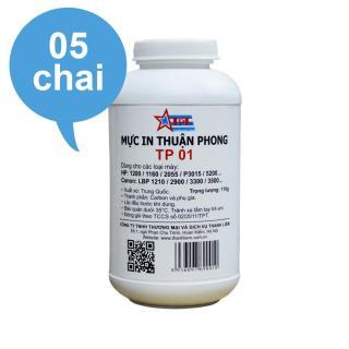 (Bộ 5 chai) Mực đổ Thuận Phong TP01 dùng cho máy in HP Canon thumbnail