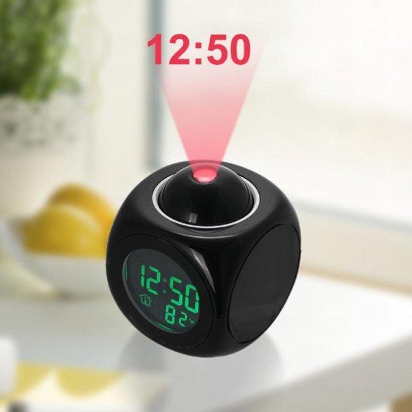 Đồng hồ báo thức kỹ thuật số hiển thị giờ bằng cách chiếu đèn LED bán chạy