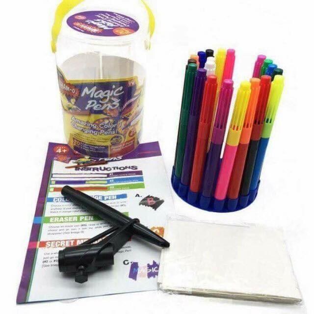 Hình ảnh Bút màu thần kỳ đổi màu và xóa được Magic Pen mẫu mới
