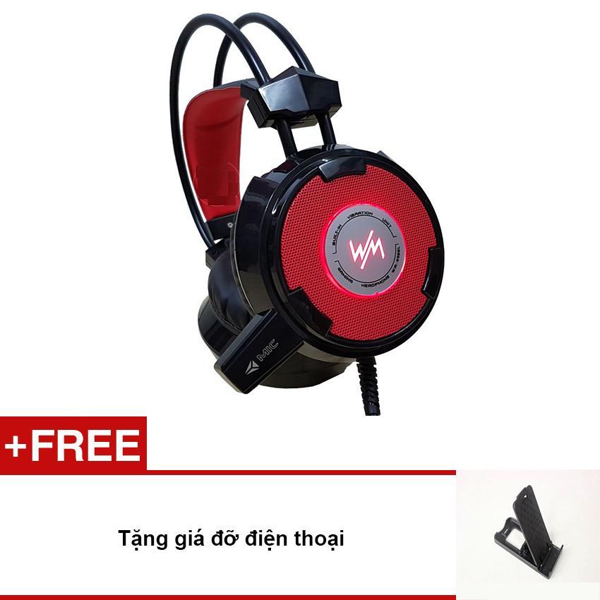 Bảng giá Tai nghe  cho game thủ WangMing WM8900 có míc (đen - tặng giá đỡ điện thoại) Phong Vũ