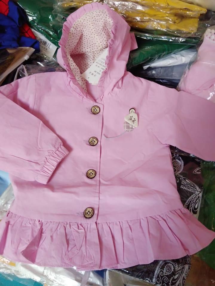 Giá bán áo khoác kaki bé gái màu hồng