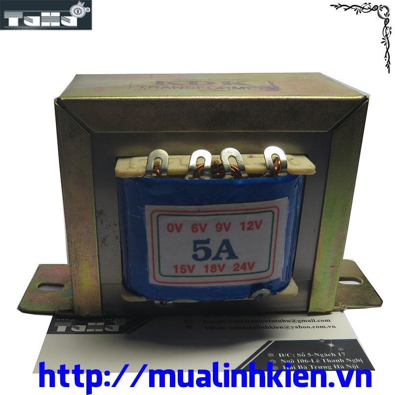 Biến Áp 5A -0v-6v-9v-12v-15v-18v-24v