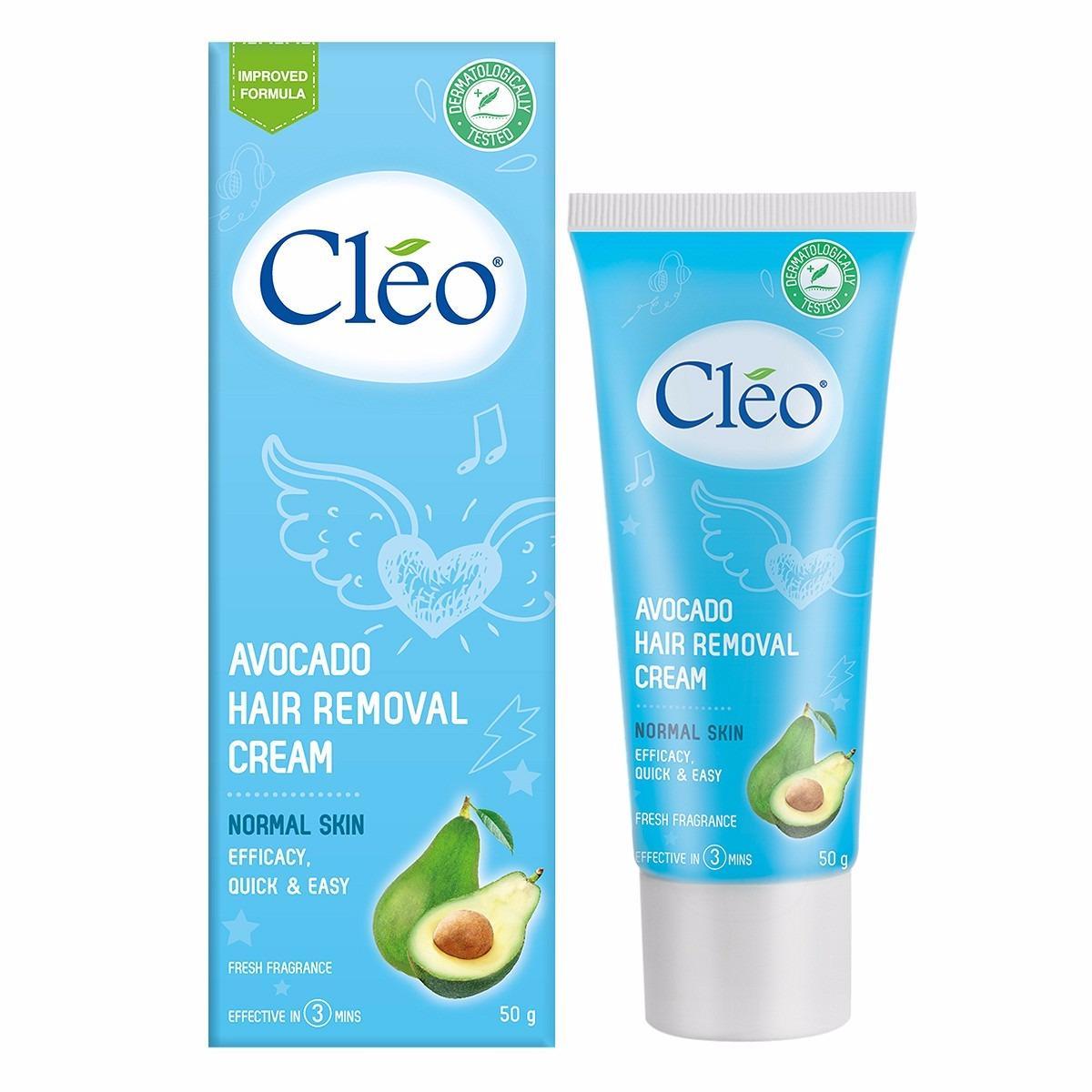 Hình ảnh Tẩy lông toàn thân Cleo Avocado Hair Removal Cream 50g