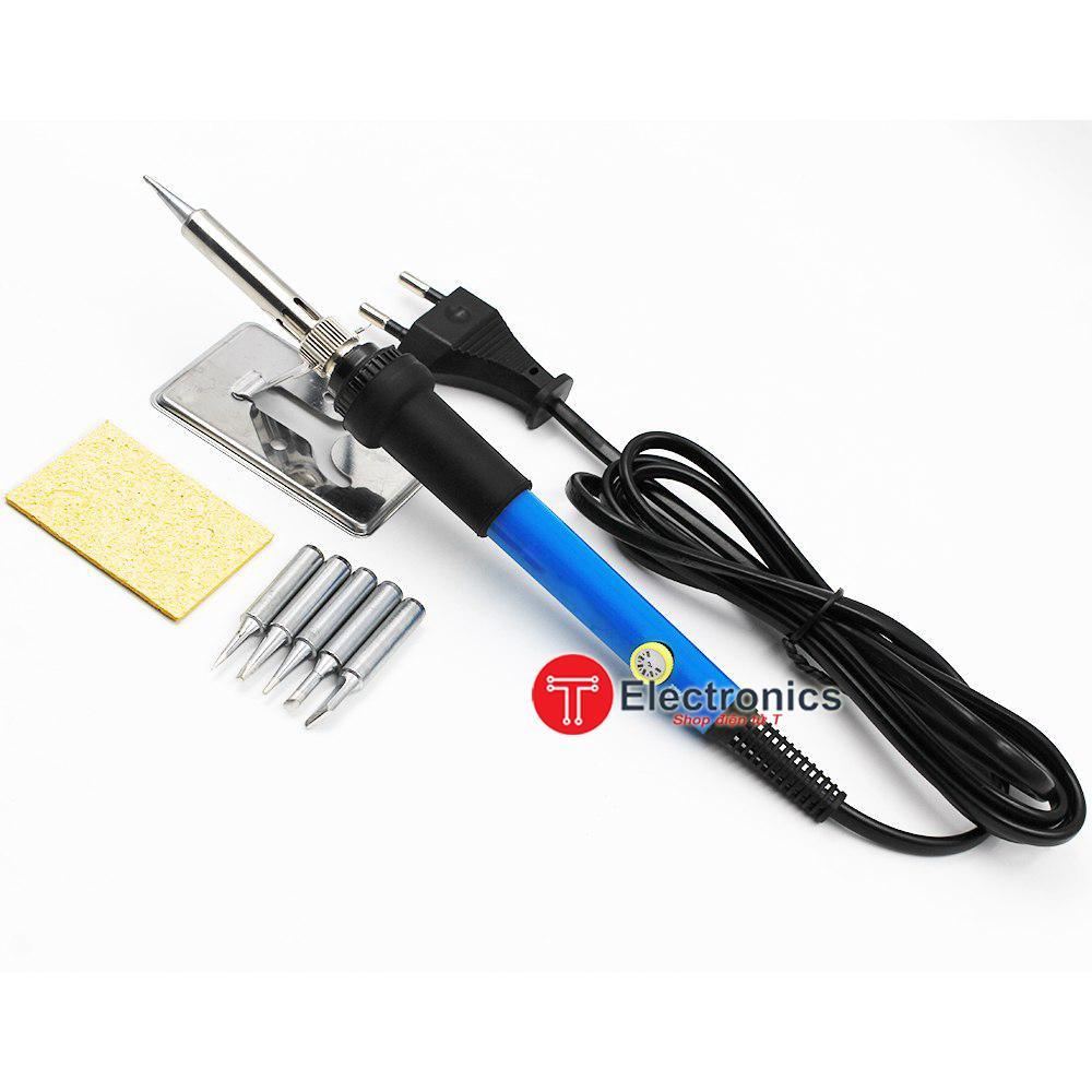 Mỏ hàn điều chỉnh nhiệt 220v-60w 6 loại mũi hàn