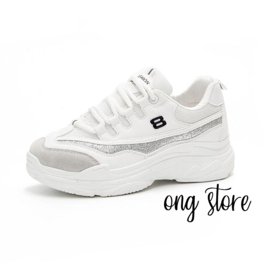 Giày thể thao đế cao phong cách Hàn Quốc số 8 giá rẻ