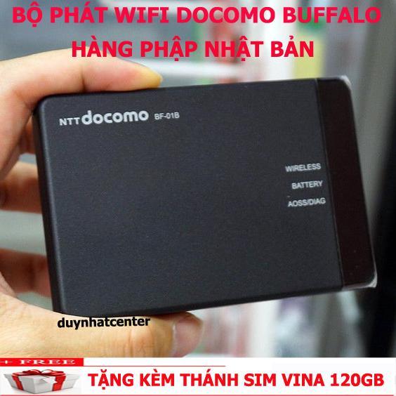 Hình ảnh Thiết BỊ Phát Sóng Wifi 3G/4G Buffalo BF-01B Nhật Bản Hàng Nhập Khẩu - Tặng Thánh Sim Vina 120GB
