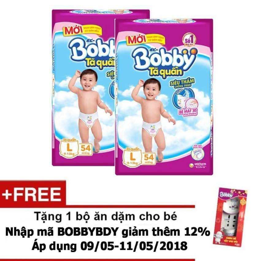 Bộ 2 Ta Quần Bobby L54 Tặng 1 Bộ Ăn Dặm Cho Be Trị Gia 60 000 Vnd Bobby Rẻ Trong Vietnam