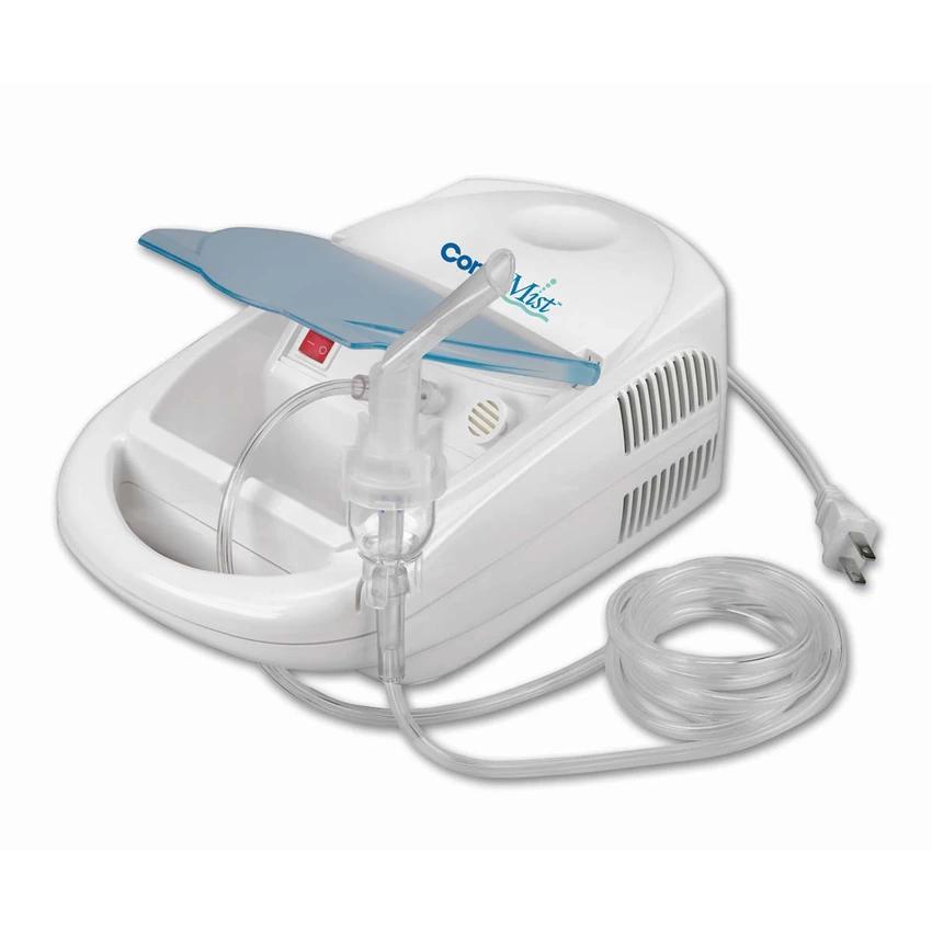 Hình ảnh Máy xông khí dung mũi họng cao cấp COMPMIST USA - Hút êm, hạt sương nhỏ, phun nhanh (Trắng phối xanh)