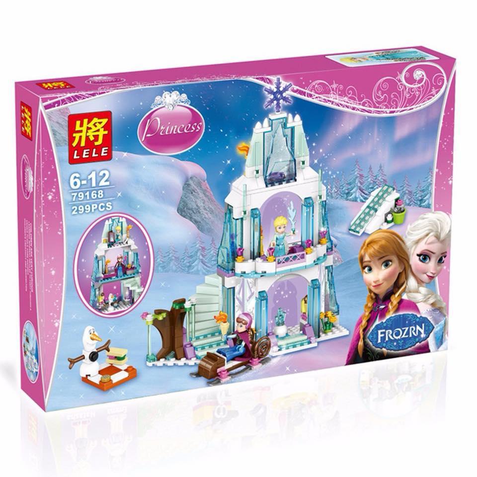 Hình ảnh Lego lắp ráp lâu đài tuyết của Anna - Elsa