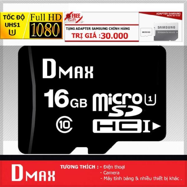 Thẻ nhớ 16GB tốc độ cao UHS1 U1, up to 90MB/s Dmax Micro SDHC class 10 - Bảo Hành 5 năm+ Tặng Adapter samsung