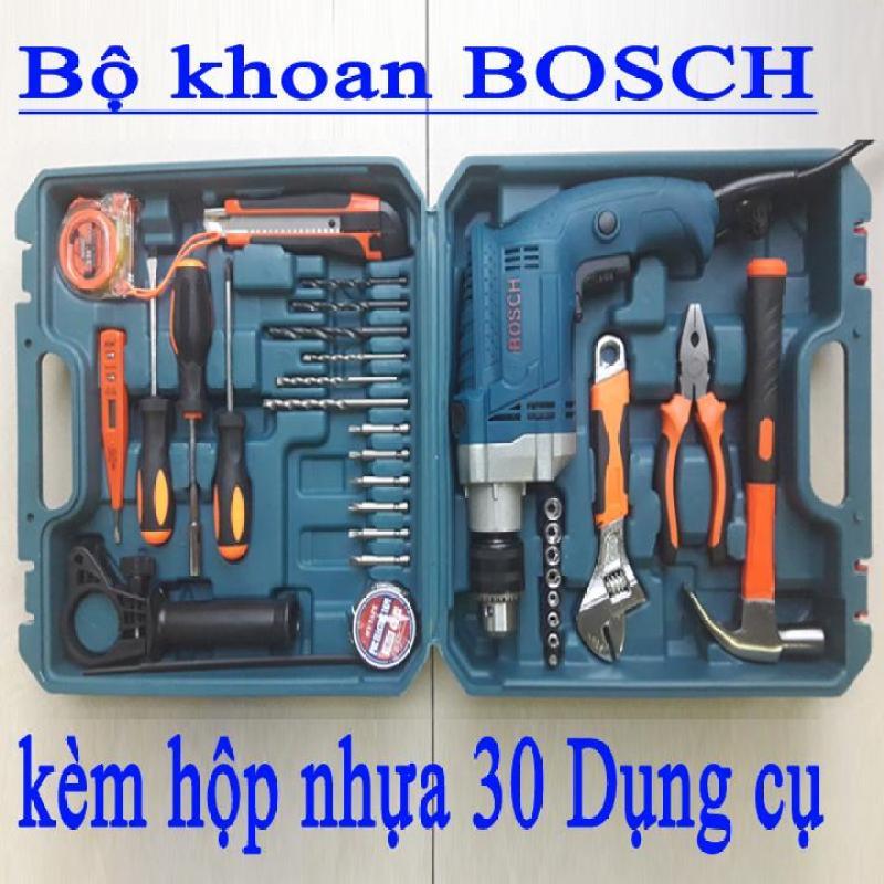 Bộ máy khoan 910W BOSCH-GSB13re+30 dụng cụ
